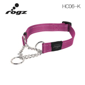 로그즈 유틸리티 훈련목줄 팬벨트 HC06-K 핑크 L